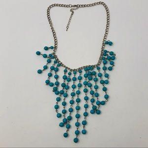 EUC Turquoise Native Boho Chandelier Necklace
